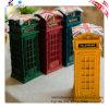 I ricordi nostalgici di Londra di processo della resina della Banca Piggy della cassetta postale