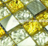 Scintillio Crystal Mixed Metal Glass Mosaic Tile per la TV Wall