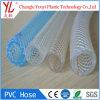 Venta caliente de fibra de PVC transparente flexible trenzado