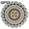 Estilo libre de la piedra del mármol del modelo del medallón del mosaico del suelo del jardín