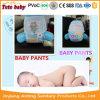 2017の新しいデザインによって印刷されるカラー赤ん坊のおむつの布の綿の使い捨て可能な赤ん坊のパンティーのおむつ