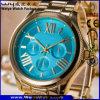Muñeca suiza del cristal de reloj de la insignia de los hombres de encargo del cuarzo para el hombre (WY-17005B)