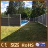 Panneaux composés en bois de frontière de sécurité de jardin de poste en aluminium réversible