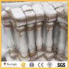 柵の手すりのための自然な石造りの白い花こう岩または大理石の石造りのBaluster