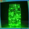 Luzes da corda, corda de fio morna brilhante super da cor verde Luz-Verde