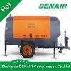 Compresor de aire a diesel portable remolcable móvil del tornillo de la construcción de carreteras