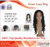 브라질 Virgin Hair Front Lace Wigs (22  인치 Deep 파)