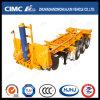 Cimc Semi Aanhangwagen van de Container van het Skelet van Huajun 20FT 2axle de achter-Tipt