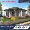 Chalet ligero prefabricado modular de la estructura de acero con diseño moderno