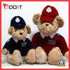 Urso da peluche que enche o urso uniforme da peluche do basebol de 2 pares das cores