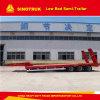 3개의 반 차축 30t-46t 낮은 침대 트레일러 발 평상형 트레일러 트레일러 트럭 부속
