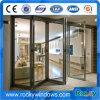 Хорошая изоляция алюминиевых Bi складные двери с двойными стеклами