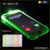 El flash de la llamada entrante LED enciende para arriba el caso para el iPhone 6