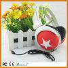 Écouteur mobile pliable de câble par noir promotionnel de mode d'écouteurs