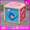 Caja de juguete de madera educativa 2015 para los cabritos, juguete encantador para los niños, caja de juguete interesante de madera de la venta al por mayor W11c012 de la caja de madera del diseño