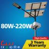 iluminación solar galvanizada los 8m de la calle al aire libre de poste 80W 5000k