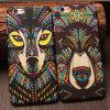 Caso plástico de la cubierta del encanto del diseño de la fluorescencia del estilo de la PC africana azteca caliente de los animales para el iPhone 6