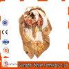 Marchio di seta di abitudine della sciarpa della sciarpa quadrata stampato onda di modo