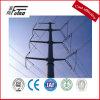 pôle électrique en acier galvanisé par 12m