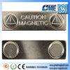 De magnetische Kentekens van de Naam van de Naamplaatjes van het Metaal met Magneten