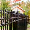 Clôtures de jardin de clôture de l'acier clôture en métal poudré balustrade clôture en fer forgé