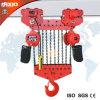 grue 30t à chaînes électrique avec le crochet