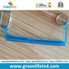 Кольцо веревочки W/Rectangle Cabiner&Split удерживания Trasparent голубое