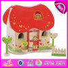 2015 현대 Kindergarten Fashion Mini Wooden Doll House, Fashion Kid 3D DIY Mini Doll House, Deluxe Wooden Mini Doll House W06A112