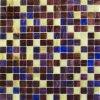 Kleur van de Tegel van het Mozaïek van het Glas van de Kleur van de mengeling de Gele en Bruine (MC210)