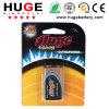 Revestimento de alumínio 1,5V Blsiter Pack baterias Alcalinas (6LR61)