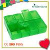 8개의 격실 플라스틱 환약 상자