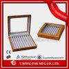 Universial personalizó la caja de madera de la pluma del almacenaje del regalo del terciopelo