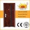 安い錬鉄のドアの鋼鉄グリルのドアデザインは模倣する鉄のドア(SC-S036)を