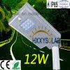 2017 neuer Entwurf alle in einem Solarstraßenlaterne12W