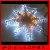 Motivo do diodo emissor de luz que constrói a luz ao ar livre da decoração da estrela do Natal