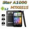 4.3 '' MTK6515 teléfono móvil elegante dual capacitivo de WiFi TV GPS SIM del androide 2.2 de la estrella A1000