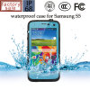 Samsung S5のための多彩な水かちり止めの携帯電話の完全なカバーケース