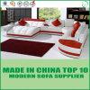 Chesterfield-moderner Entwurfs-echtes Leder-Sofa-Set