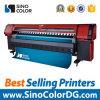 impresora de la bandera del formato grande de Sinocolor Km-512I de la velocidad rápida de los 3.2m