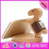 Sostenedor de madera al por mayor del teléfono del escritorio 2016, sostenedor de madera de encargo del teléfono del escritorio, sostenedor de madera W02A165 del teléfono del escritorio de la alta calidad