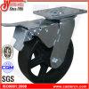 bremsen-Roheisen-Rad-Fußrolle des Zoll-4  X2  Gesamt