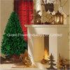de Kunstmatige die Boom van Kerstmis 4.5FT Natual van het Materiaal van pvc van de Klasse Fisrt met het Volledige Been van het Metaal van Uiteinden (886) wordt gemaakt Stevige Sterke