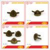 Kleines Antibrass Metallfirmenzeichen-Abzeichen für Beutel bereift Hut-Teile
