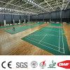 高品質の屋内緑PVCフロアーリングのビニールはバドミントンのテニス4.5mのための床を遊ばす