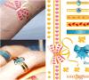Tattoo искусствоа стикера Tattoo Tattootemporary модного золота металлический