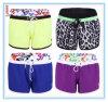 Pantalon de plage de bain de dames de Boardshorts de coton de spandex d'extension de vêtements de bain de la Chine