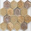 Het hexagonale Ceramische Mozaïek van het Ijs van Ritselen met Glas voor 2016