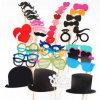la cabina de la foto de 44PCS DIY apoya el palillo de la cornamenta del sombrero del labio del bigote