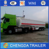 Reboque novo do petroleiro do produto químico/petróleo/combustível do Tri-Eixo 42000liters para a venda