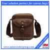 実質の革(MSB-017)が付いているキャンバスのメッセンジャーの肩の学生かばん袋